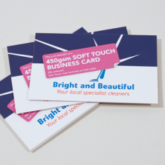Business Card 450gsm with Soft Touch Laminate
